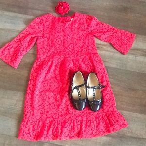 Toddler Gad red lace dress